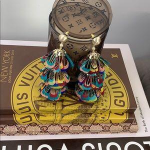 Kendra Scott Lenni Multicolor Feather Earrings
